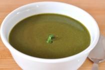 bowl of creamy spinach feta soup