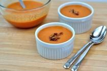 ramekins of creamy tomato bacon soup