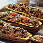 Turkey Stuffed Delicata Squash