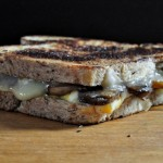 grilled balsamic mushroom and cheese sandwiches.