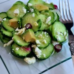 Find the recipe for this Delicious plate of Cucumber Avocado Salad with Feta on The Creekside Cook