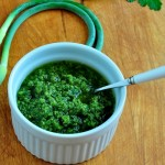 Garlic Scape Chimichurri Sauce on The Creekside Cook