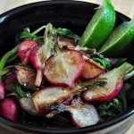 Sauteed Radishes with Sea Salt & Lime