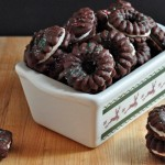 Yummy Chocolate Espresso Spritz Cookies with Kahlúa Cream Filling on The Creekside Cook