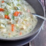 Creamy Chicken and Rice Soup with Dill