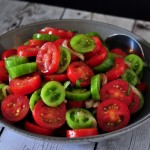 Recipe for Marinated Tomato Salad on The Creekside Cook